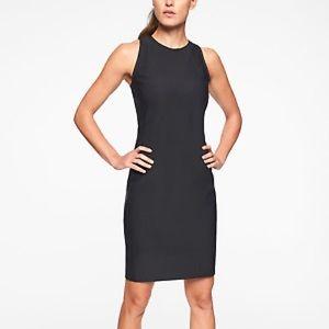 Athleta Whirlwind Black Racerback Tank Dress